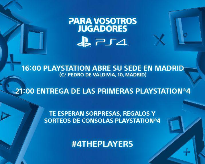 PS4 – Detalles del evento de lanzamiento el 28 de noviembre