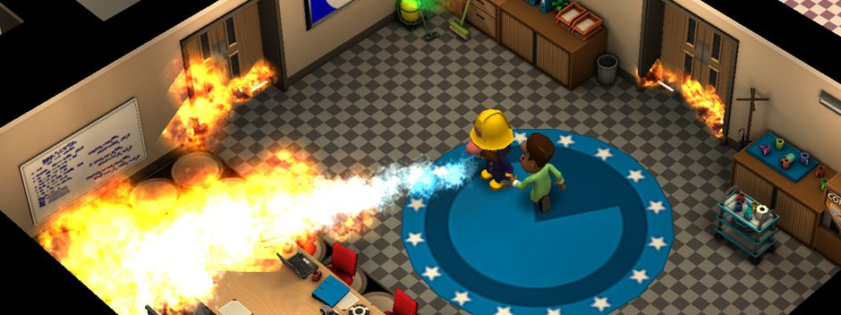 Echa un primer vistazo a Flame Over, el roguelike con el que apagarás incendios en PS Vita