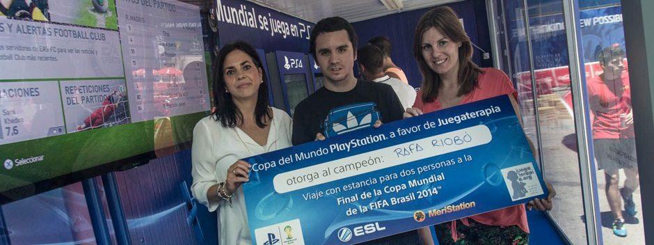 Rafa Riobó disfrutará de la final del Mundial gracias a PlayStation y Juegaterapia