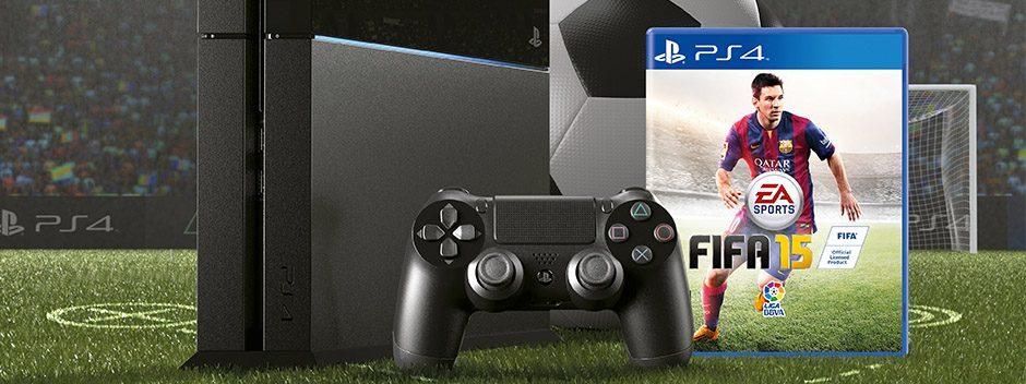 Consigue tu PS4 con FIFA 15 por solo 399,99 €
