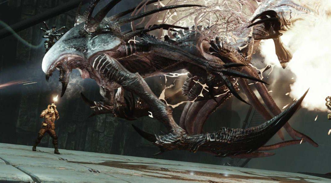 Luchando con el Wraith en PS4 en el shooter por equipos Evolve