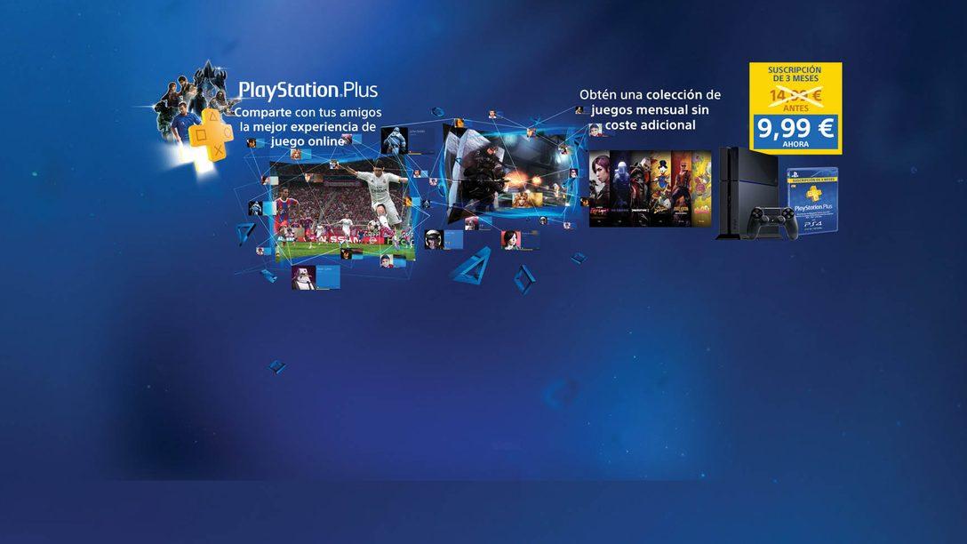 Disfruta tres meses de PlayStation Plus por 9,99 €