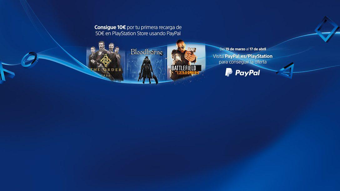 Recarga 50 € con PayPal y ahórrate 10 €