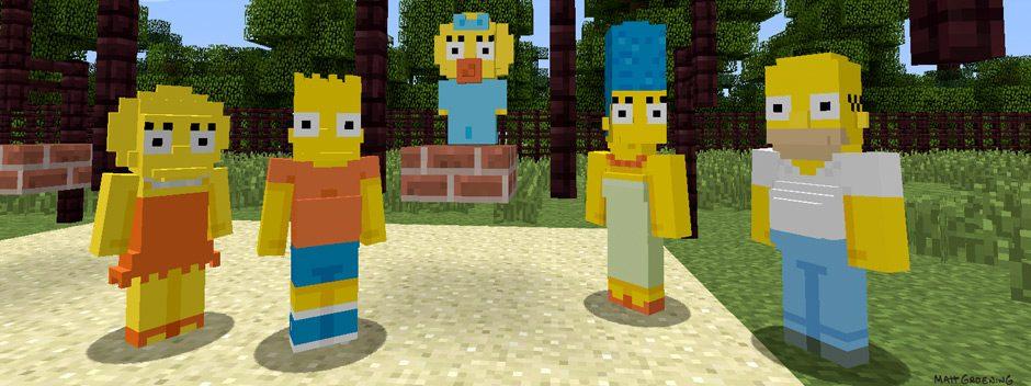 Los Simpson llegan esta semana a Minecraft