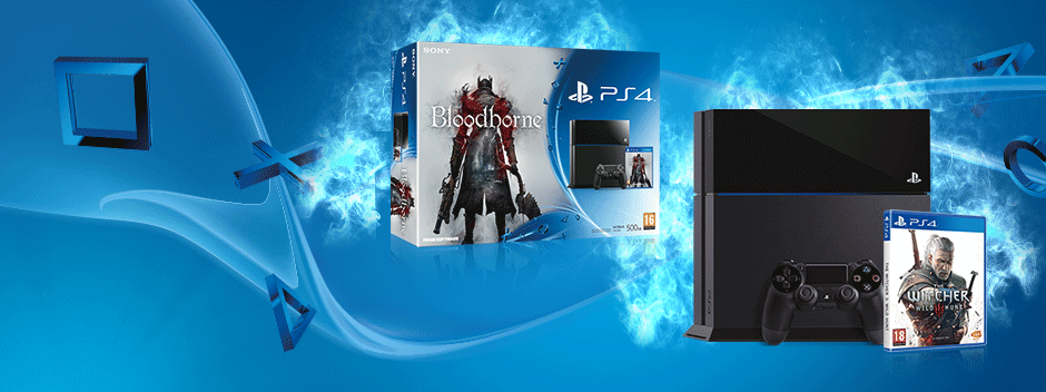 Tu PS4 + Bloodborne o The Witcher 3: Wild Hunt por 399,99 €