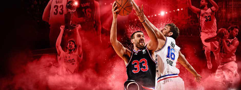 Los hermanos Gasol protagonizan la portada española de NBA 2K16