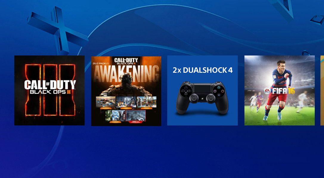 Consigue juegos de PS4, mandos DUALSHOCK 4 y mucho más