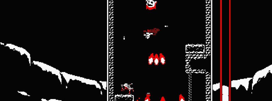 Downwell, el exitoso y trepidante juego de plataformas vertical, aterriza en PS4 y PS Vita este mes