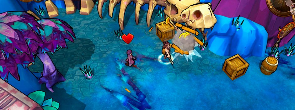 El juego de aventura y exploración de generación procedural Lost Sea llega a PS4 el próximo mes