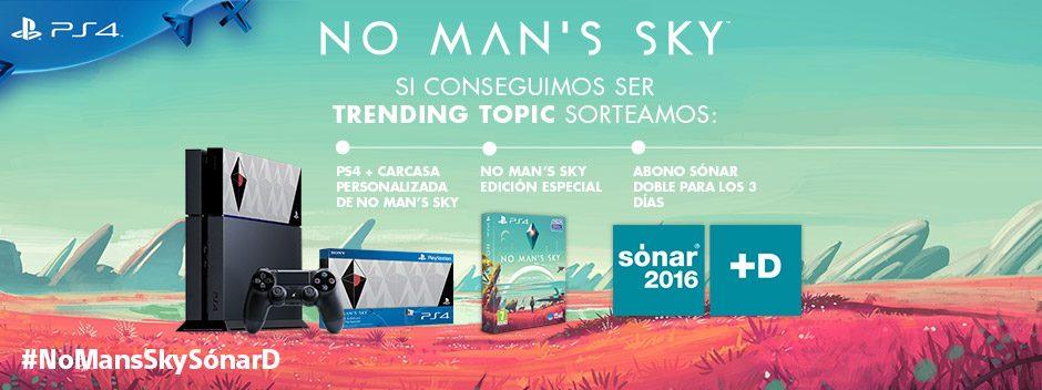 Consigue grandes premios tuiteando el día 9 de junio con el hashtag #NoMansSkySonarD