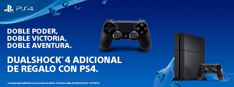 Compra ahora tu PS4 y llévate de regalo un DUALHOCK 4