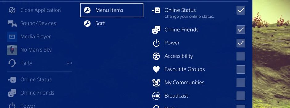 Así es como el nuevo menú rápido de PS4 te pone todo al alcance de un botón