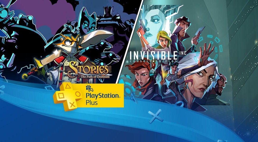 Aventura y acción en PlayStation Plus: Invisible Inc. y Stories: The Path of Destinies
