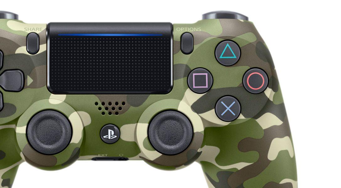 Presentamos el nuevo mando DUALSHOCK 4 de camuflaje verde