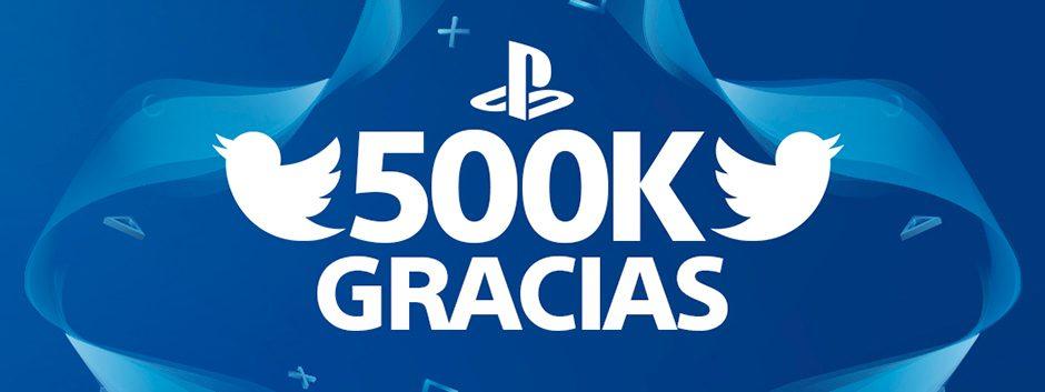 ¡Ya somos 500.000 seguidores de PlayStation en Twitter! Hazte con un fantástico premio