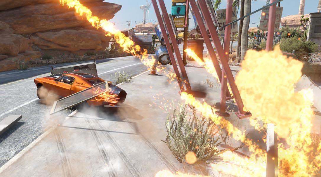 Por qué el desierto es el escenario perfecto para el regreso del emocionante juego de conducción arcade Flatout: Total Insanity