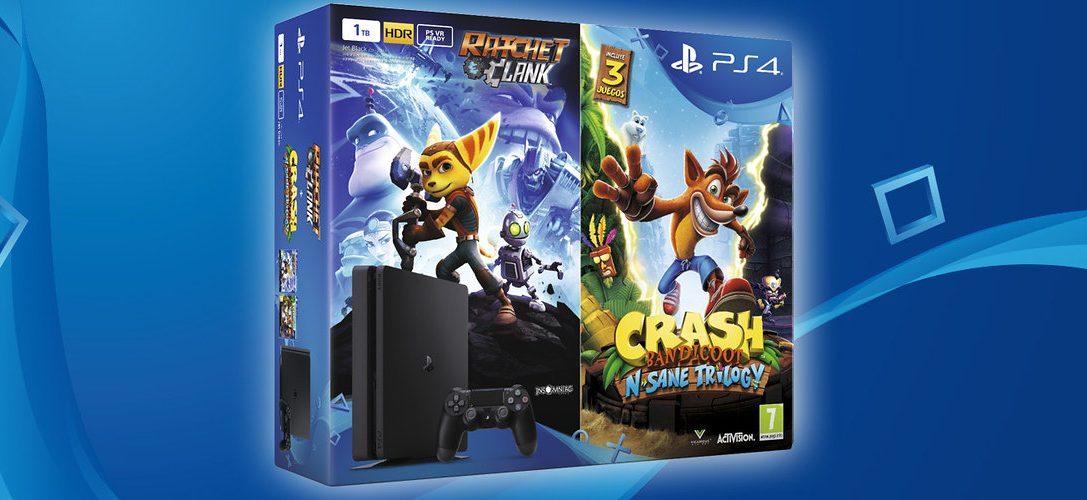 Estrena tu PS4 junto a Crash, Ratchet y Clank con nuestro nuevo pack
