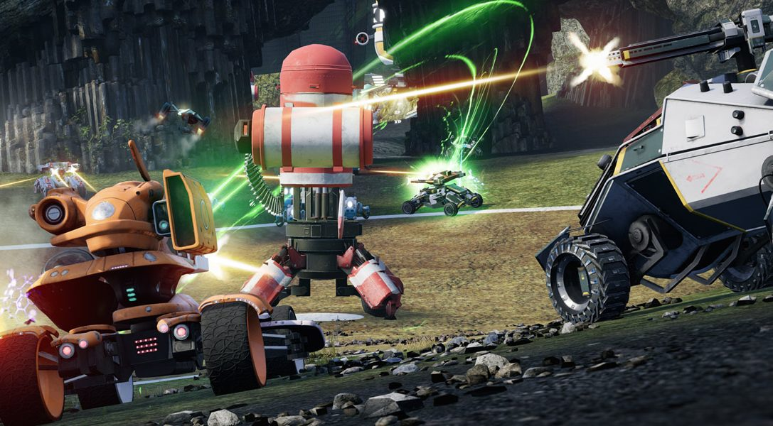 Los veteranos de Blur y Geometry Wars regresan con el combate multijugador en vehículos de Switchblade, para PS4