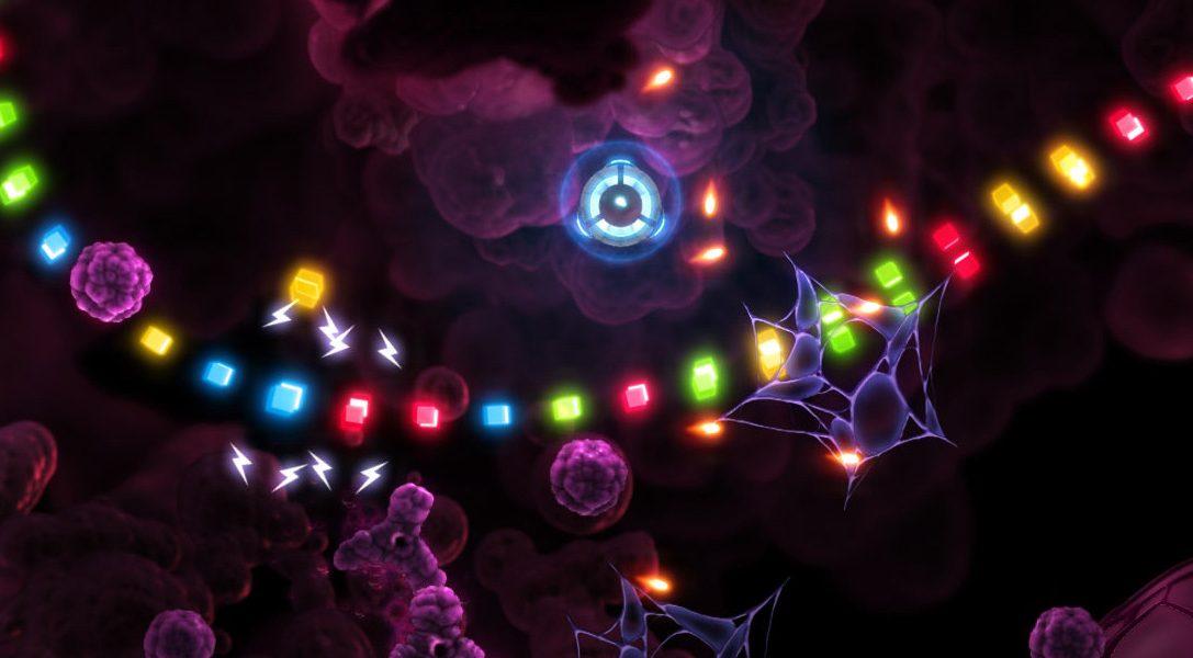 Transcripted, el juego que mezcla los disparos con doble joystick y el unir tres figuras iguales, llegará a PS4 el 13 de septiembre