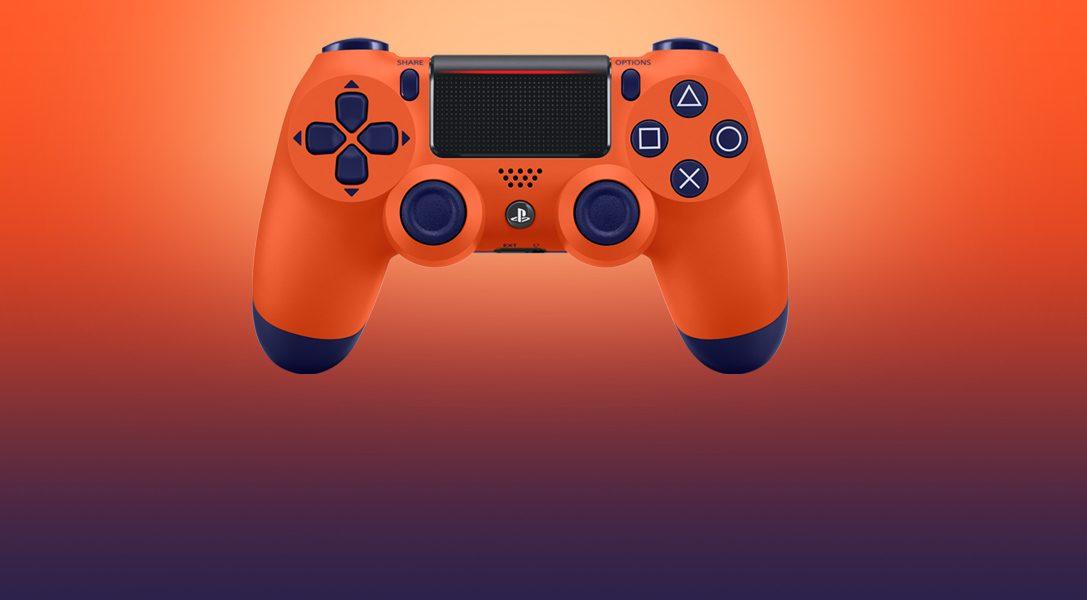 Presentamos el mando inalámbrico Sunset Orange DUALSHOCK 4, a la venta el 14 de noviembre