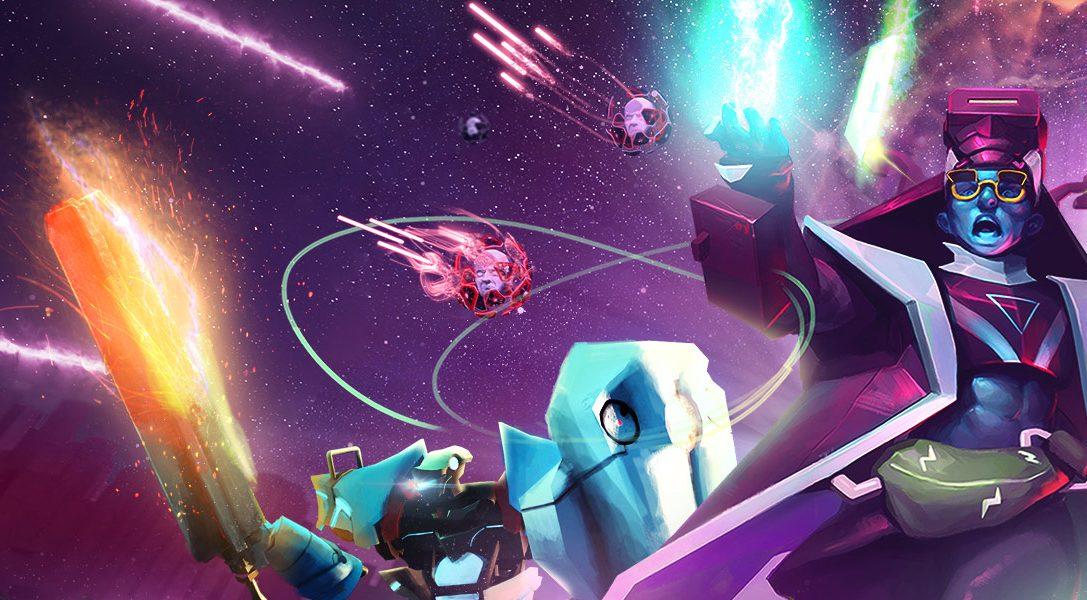 Enfréntate a una horda de enemigos digitales en Blasters of the Universe, un juego de disparos de PS VR que sale a la venta el 27 de febrero
