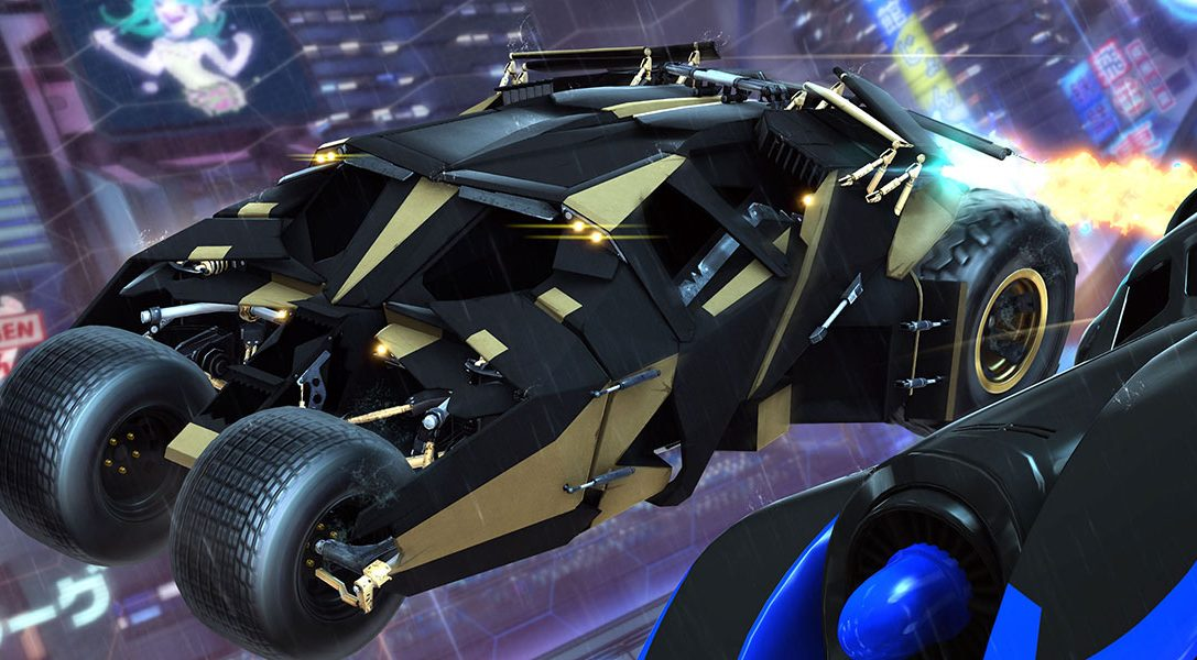 Las dos eras del Batmóvil se unen al fenómeno de PS4 Rocket League el próximo mes