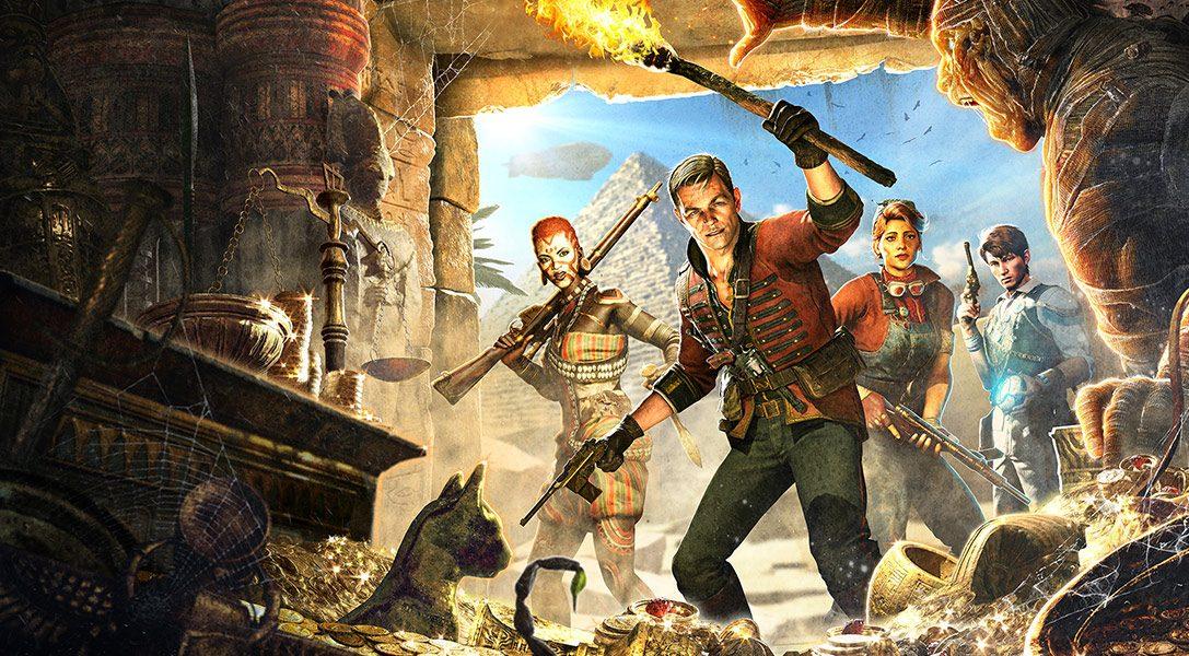 Absorbe almas para usar magia y busca tesoros para conseguir mejoras en Strange Brigade, un shooter cooperativo para PS4
