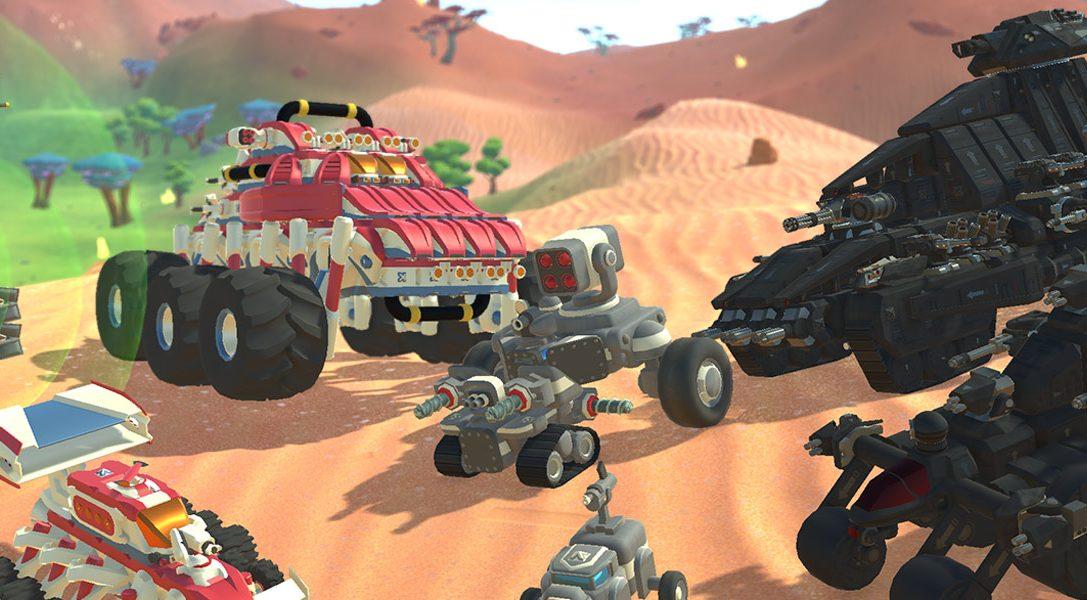 Construye coches, aviones y otros vehículos, y combate contra tus amigos en TerraTech, disponible para PS4 el 14 de agosto