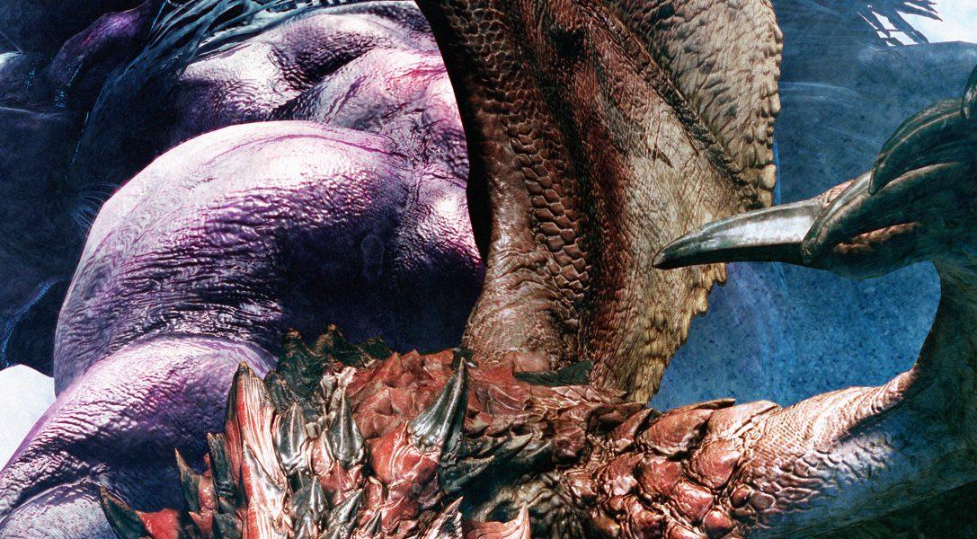 Consejos de combate para vencer a la última amenaza de Monster Hunter: World, el terrorífico Behemoth de Final Fantasy XIV