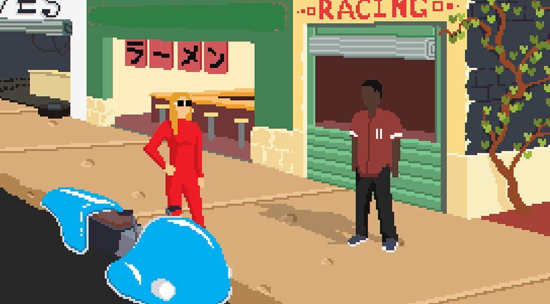 Compite con motos flotantes mientras escuchas una banda sonora lo-fi hip-hop en el juego de rol de ciencia ficción Desert Child