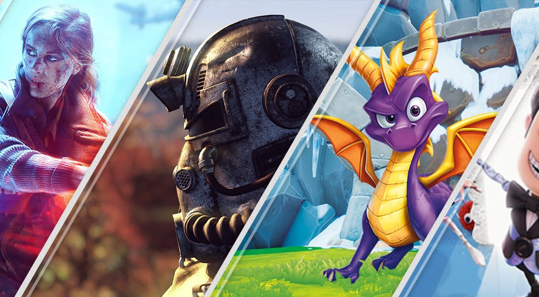 Lo último en PlayStation Store esta semana: Battlefield V, Fallout 76, Spyro Reignited Trilogy y más