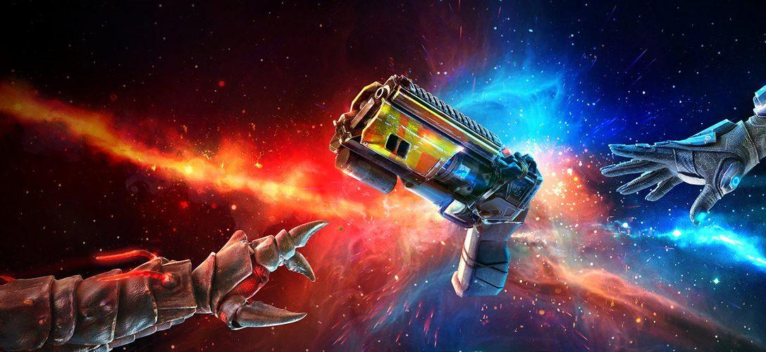 Ponte la mochila propulsora y prepárate para competir en Space Junkies, disponible para PS VR el 26 de marzo