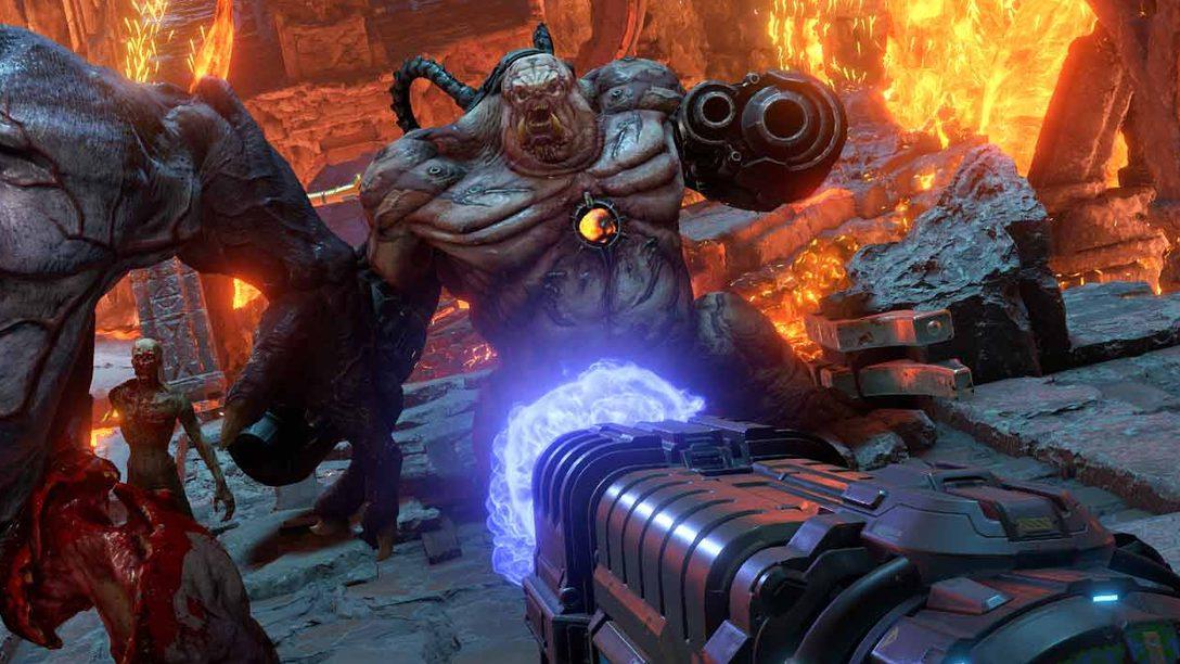 Las nuevas opciones transversales de Doom Eternal y el arsenal expandido están diseñados para hacerte sentir el jefazo