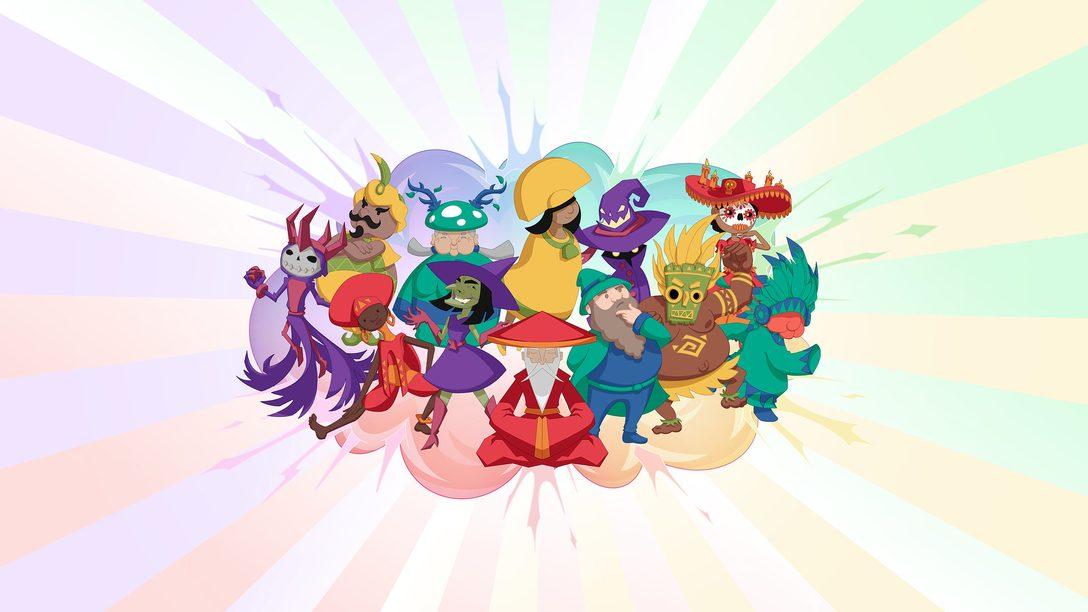 El caótico party game Wizards Tourney ya está disponible en PlayStation Store