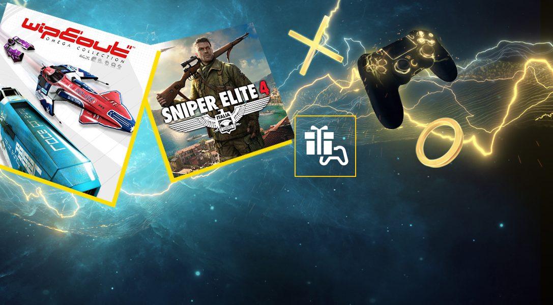 WipEout Omega Collection y Sniper Elite 4 son tus juegos de PlayStation Plus en agosto