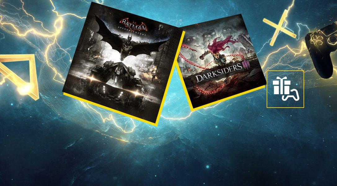 Batman: Arkham Knight y Darksiders III son tus juegos de PlayStation Plus para septiembre