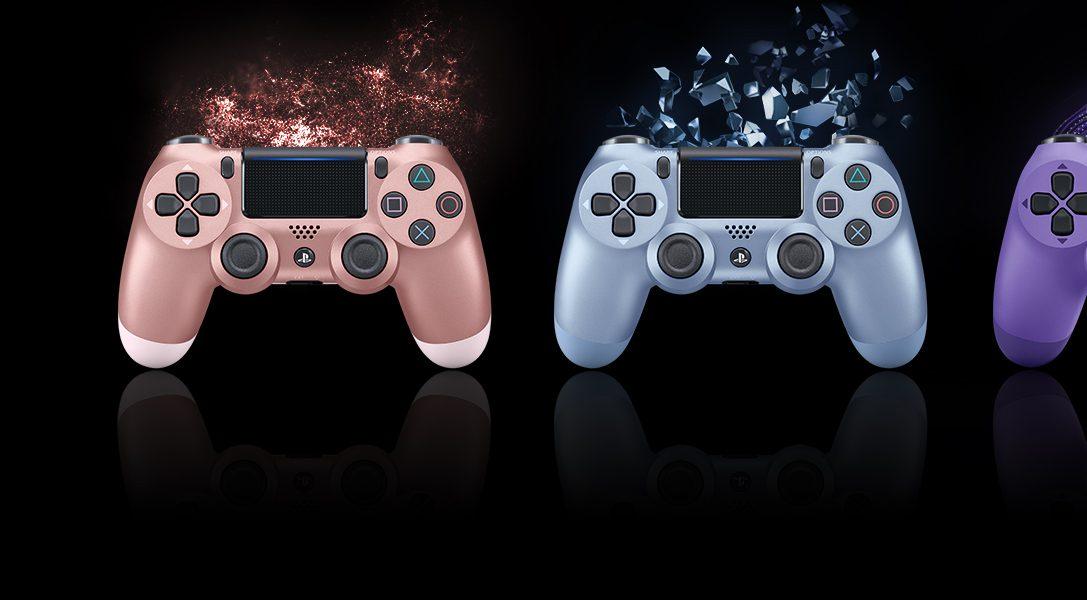 Echa un vistazo a los nuevos cuatro colores del mando DUALSHOCK 4: disponibles a partir de otoño