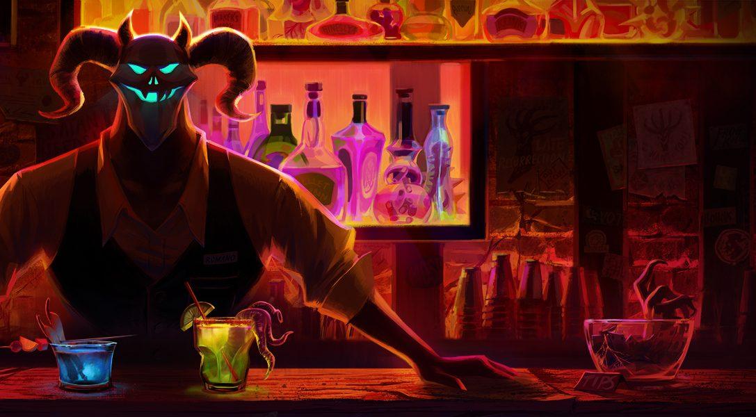 Usa la bebida para huir del más allá en la aventura cómica de Afterparty, a la venta el mes próximo