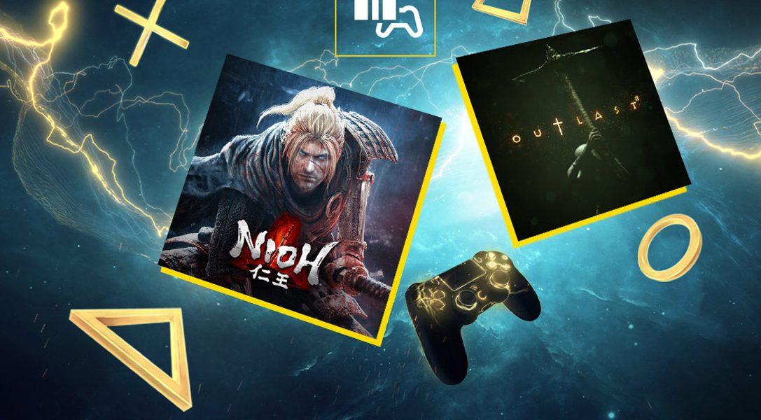 Nioh y Outlast 2 son los juegos del mes de noviembre de PS Plus