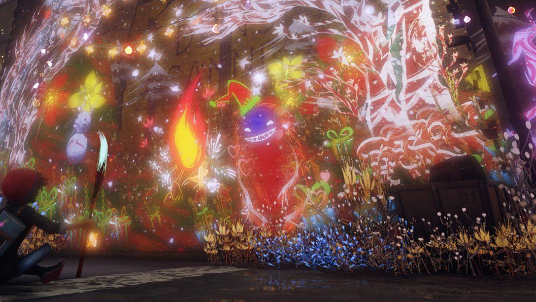 Crea obras de arte de temática navideña en Concrete Genie con un nuevo set de pinceles festivo a partir de hoy