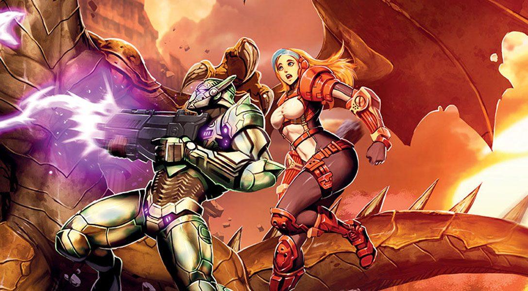 El juego de acción y plataformas en 2D Gunlord X llega esta semana a PS4