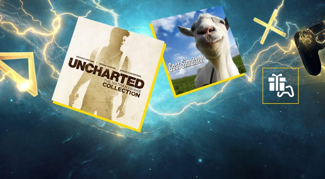 Uncharted: The Nathan Drake Collection, Goat Simulator y Submersed son los juegos de PS Plus de enero