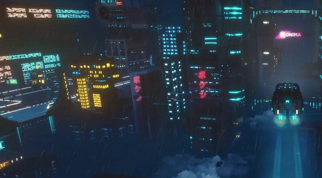 Sobrevive una noche como una repartidora en una metrópolis cyberpunk de estilo vóxel en Cloudpunk