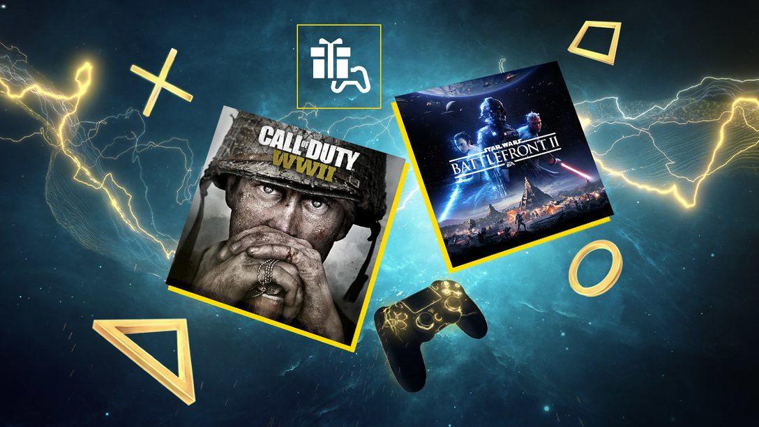Call of Duty: WWII y Star Wars: Battlefront II son tus juegos de PS Plus para junio