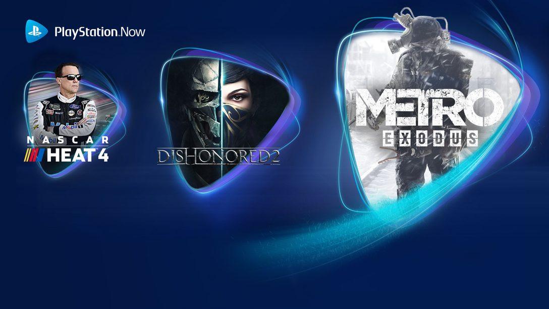 Metro Exodus, Dishonored 2 y NASCAR 4 se unen a PS Now en junio
