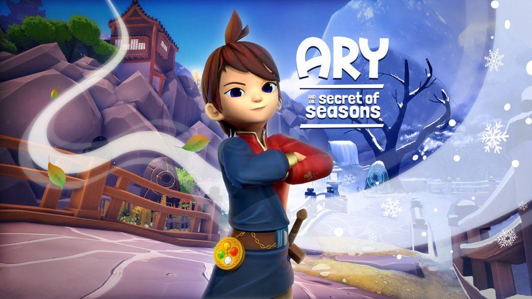 Controla el poder de la primavera, verano, otoño e invierno en Ary and the Secret of Seasons