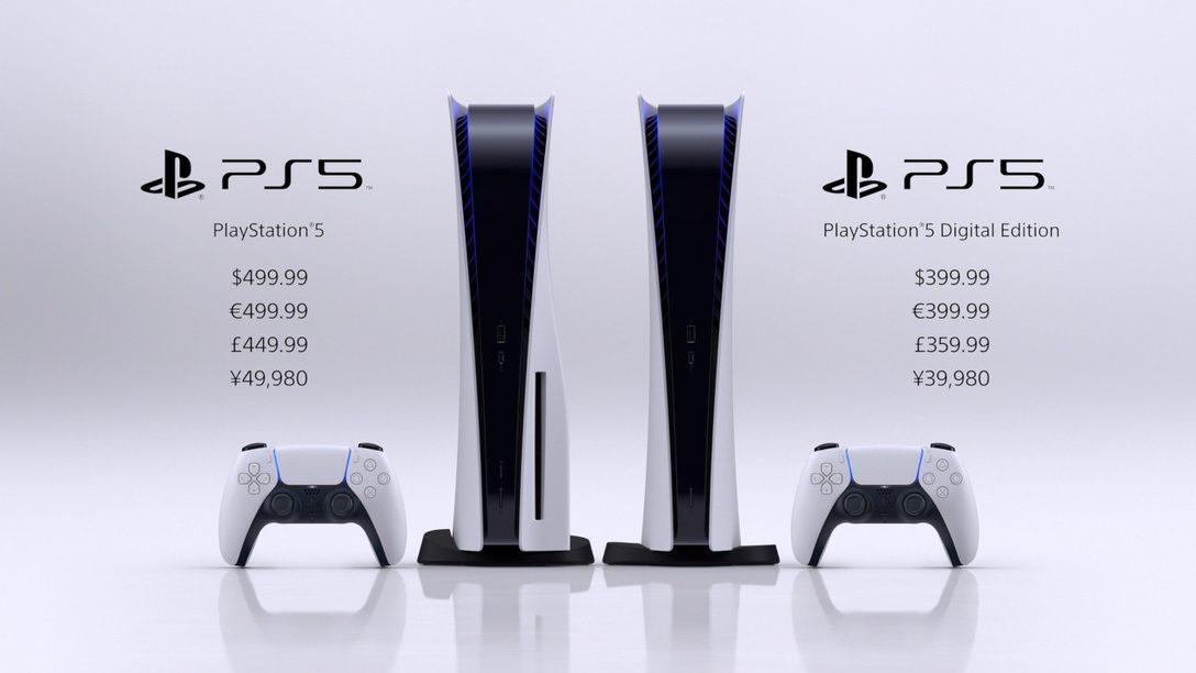 PlayStation 5 llega en noviembre por 399 € la Digital Edition y 499 € la versión con disco Ultra HD Blu-ray Disc