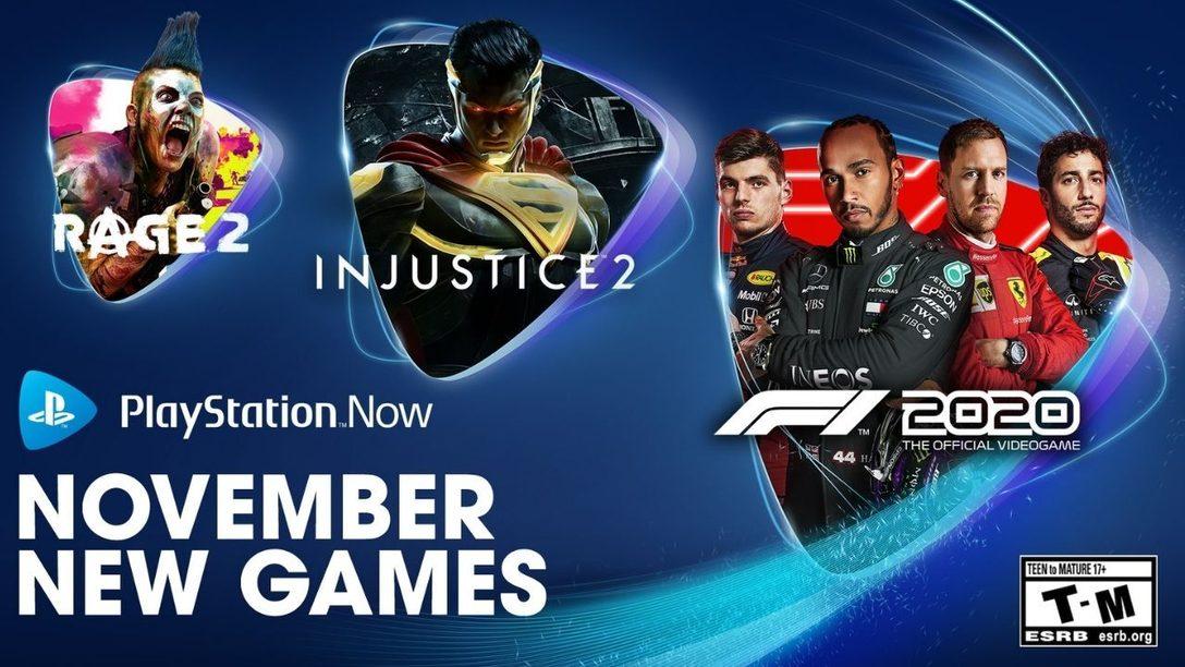 Injustice 2, Rage 2 y F1 2020 son los juegos para PS Now de noviembre