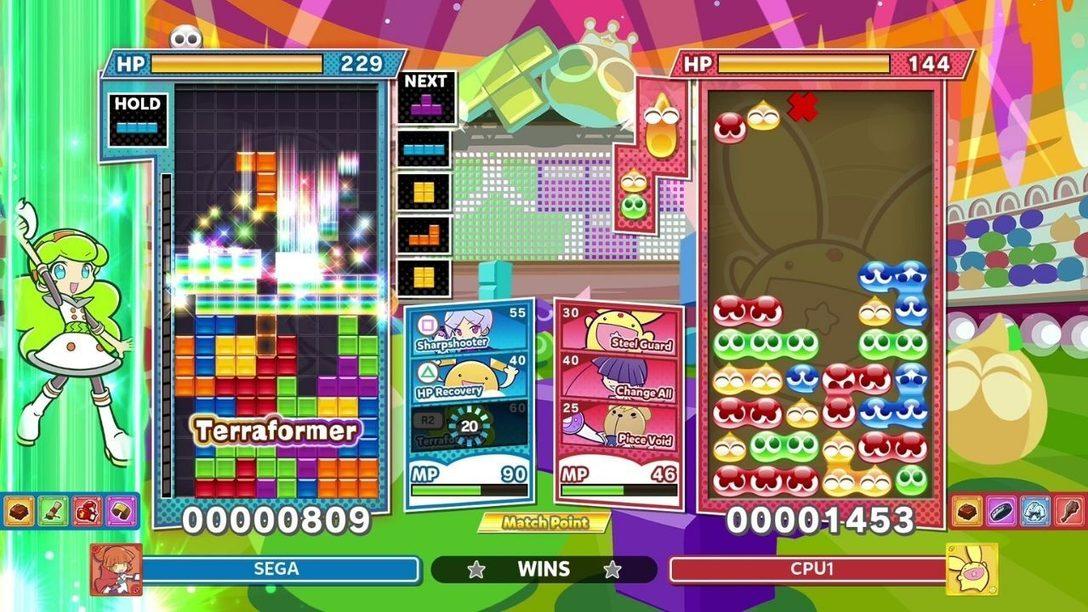 Adéntrate en el modo Duelo de Habilidad de Puyo Puyo Tetris 2