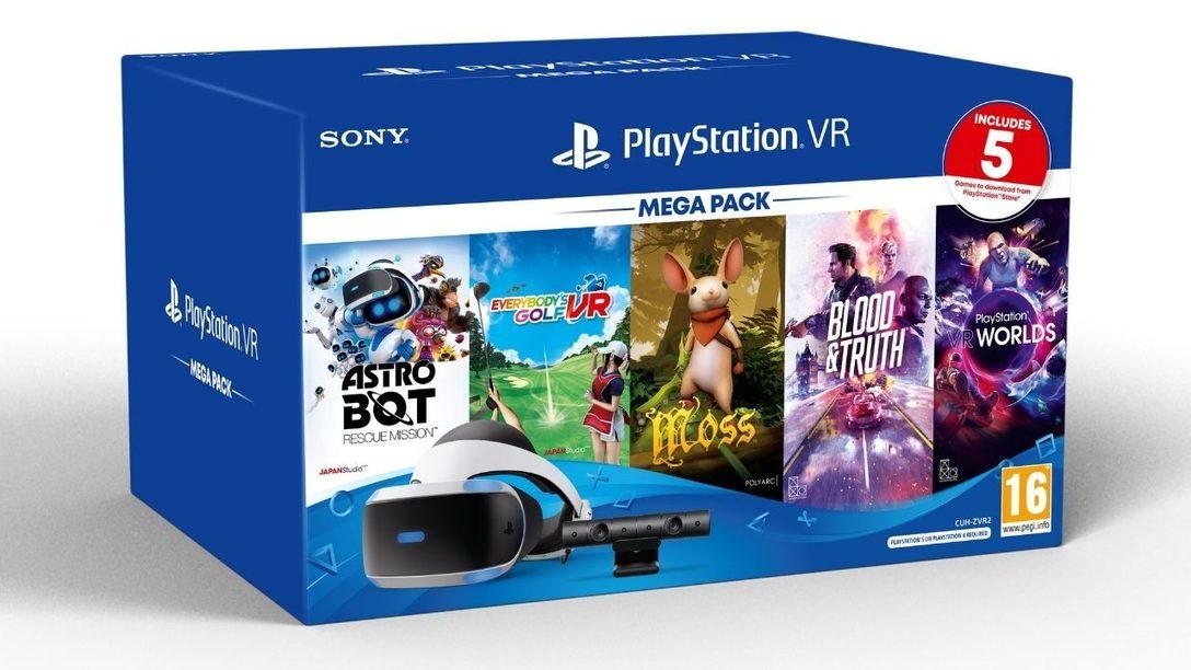 El Mega Pack de PS VR, que incluye 5 juegos increíbles, estará disponible el 27 de noviembre
